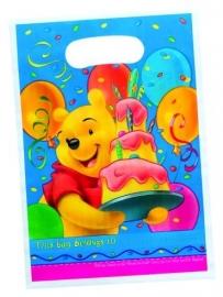 Disney Winnie the Pooh birthday traktatiezakjes  6 st.