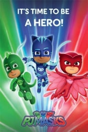 PJ Masks poster It's time to be a hero 61 x 91,5 cm.