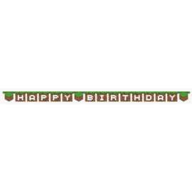 Minecraft slinger happy birthday 2,38 mtr.