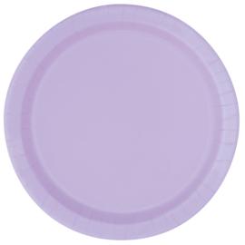 Lavendel wegwerp bordjes ø 21,9 cm. 8 st.