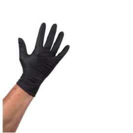 Plastic wegwerp handschoenen zwart XL 100 st.