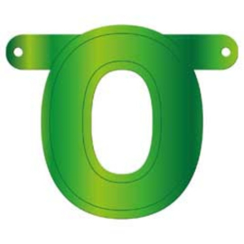 Banner cijfer 0 lime groen
