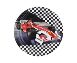 Formula Race gebakbordjes ø 18 cm. 6 st.