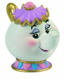 Mevrouw Theepot taart topper decoratie 6 cm.