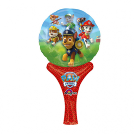 Paw Patrol hand folieballon 15 x 30 cm.