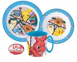 Pokémon ontbijtset 3-delig B
