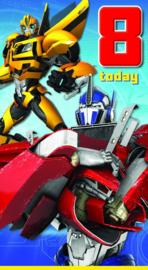 Transformers verjaardagskaart 8 Today