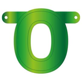Banner letter O lime groen