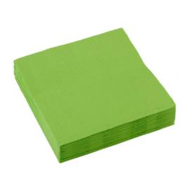 Servetten lime groen 25 x 25 cm.  20 st.