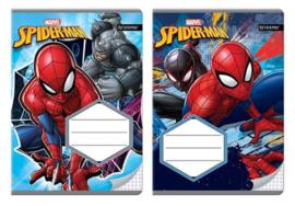 Spiderman ruitjes schrift A5 p/stuk
