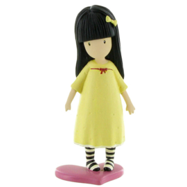 Gorjuss You The Pretend Friend taart topper decoratie 10 cm.