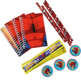 Spiderman uitdeelspeelgoed set 16-delig