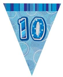Vlaggenlijn blue glitter 10 jaar 2,74 mtr.