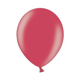 Ballon metallic rood ø 30 cm. 10 st. (Belbal)