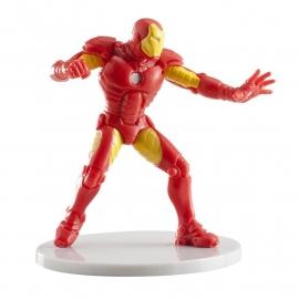Avengers Assemble Iron Man taart topper decoratie 7,5 cm.