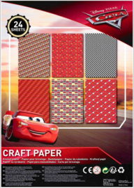 Disney Cars knutselpapier A4 21 x 29,7 cm.