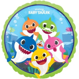 Baby Shark folieballon ø 43 cm.