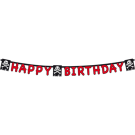 Piraten happy birthday slinger 1,65 mtr.