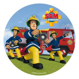 Brandweerman Sam taart en cupcake decoratie