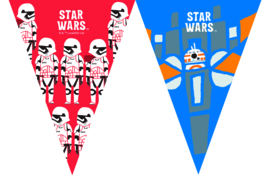 Star Wars Forces vlaggenlijn 2,3 mtr.