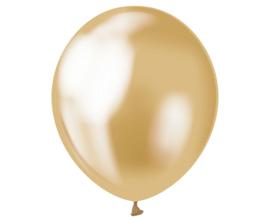 Chrome ballonnen goud ø 30 cm. 7 st.