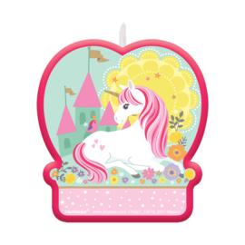Magical Unicorn taart kaars 9 cm.