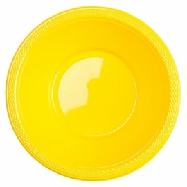 Gele wegwerp schaaltjes 355 ml. 10 st.