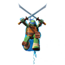 Ninja Turtles folieballon XL 66 x 109 cm.
