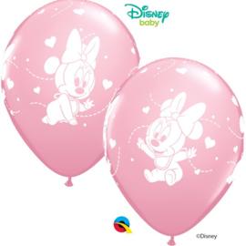 Disney Baby Minnie Mouse roze ballonnen ø 30,48 cm. 6 st.