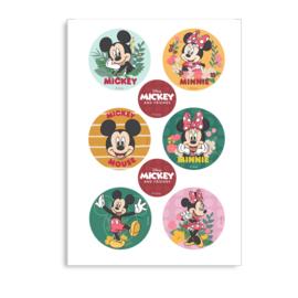 Disney Mickey en Minnie Mouse cupcake decoratie ø 5,8 cm. 6 st.
