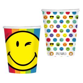 Smileyworld bekertjes 250 ml. 8 st.