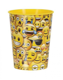 Emoji - Smiley plastic drinkbeker 473 ml.