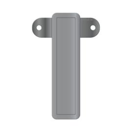 Banner letter I metallic zilver
