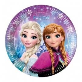 Disney Frozen Northern Lights bordjes ø 23 cm. 8 st.