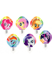 My Little Pony cupcake ouwel decoratie 12 st.