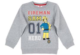 Brandweerman Sam sweatshirt grijs mt. 128