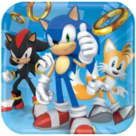 Sonic The Hedgehog gebakbordjes 17,8 cm. 8 st.