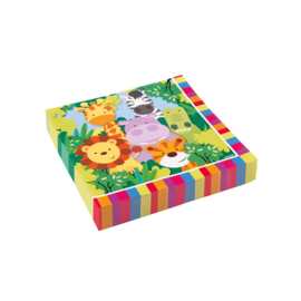 Jungle servetten Animal Friends 33 x 33 cm. 20 st.