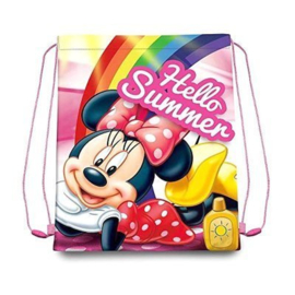 Disney Minnie Mouse gym- zwemtas Hello Summer 40 x 30 cm.