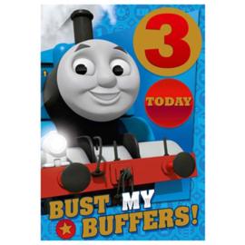 Thomas de Trein verjaardagskaart 3 jaar
