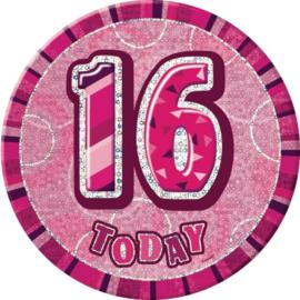 Sweet Sixteen button ø 15 cm.