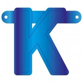 Banner  letter K blauw