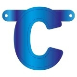 Banner letter C blauw