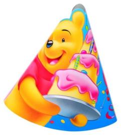 Disney Winnie de Poeh Birthday feesthoedjes 6 st.