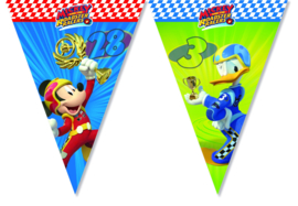 Disney Mickey Mouse and the Roadster Racers vlaggenlijn 2,3 mtr.