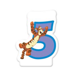Disney Tijgetje 2D 5e verjaardag taart kaars