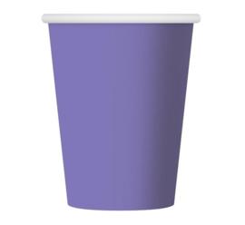 Lavendel wegwerp party bekertjes 270 ml. 6 st.