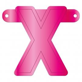 Banner letter X fuchsia