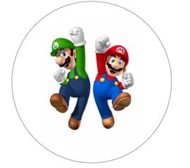 Super Mario Bros taart en cupcake decoratie