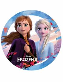 Disney Frozen 2 ouwel taart decoratie ø 14,5 cm. C